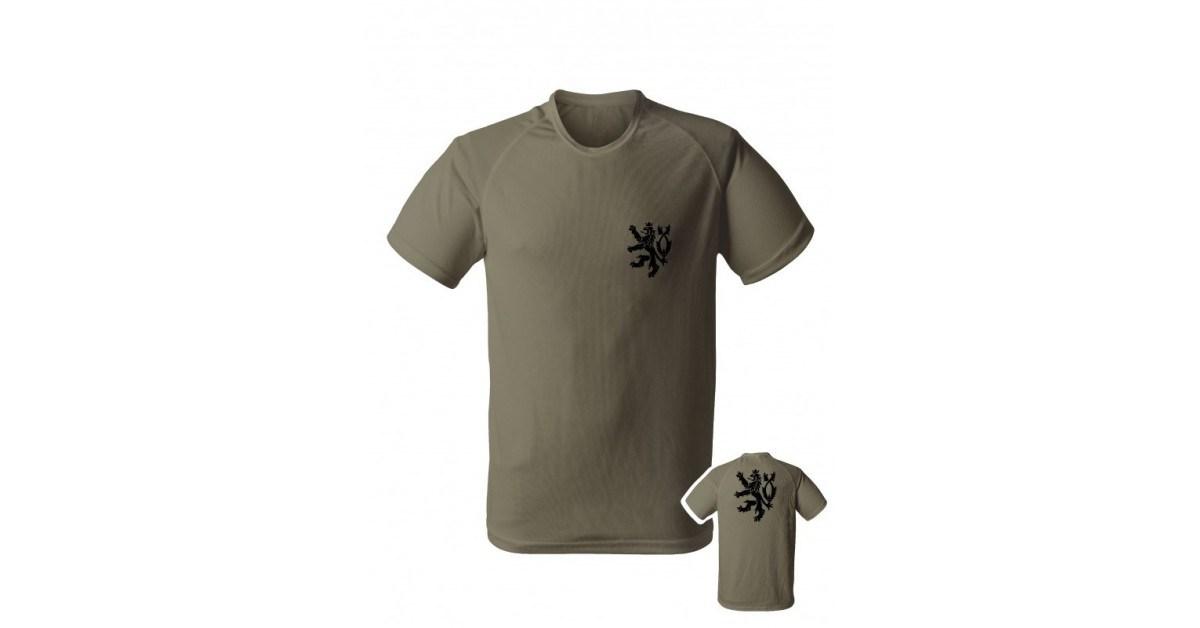 Pánské sportovní tričko s českým lvem (funkční tričko) 79c1923c6f