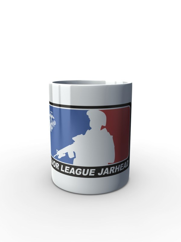 Bílý hrnek Major League Jarhead