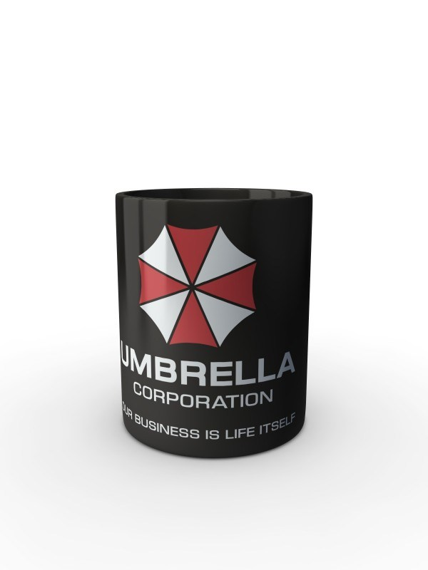 Černý hrnek Umbrella Corporation