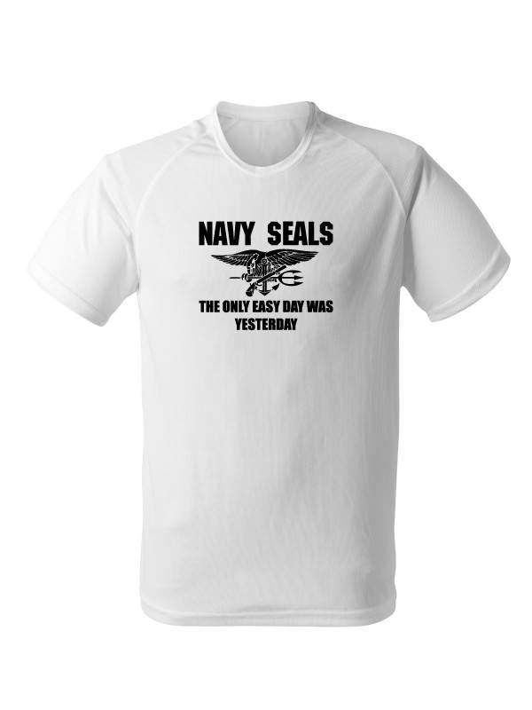Funkční tričko United States NAVY SEALS The Only Easy Day Was Yesterday