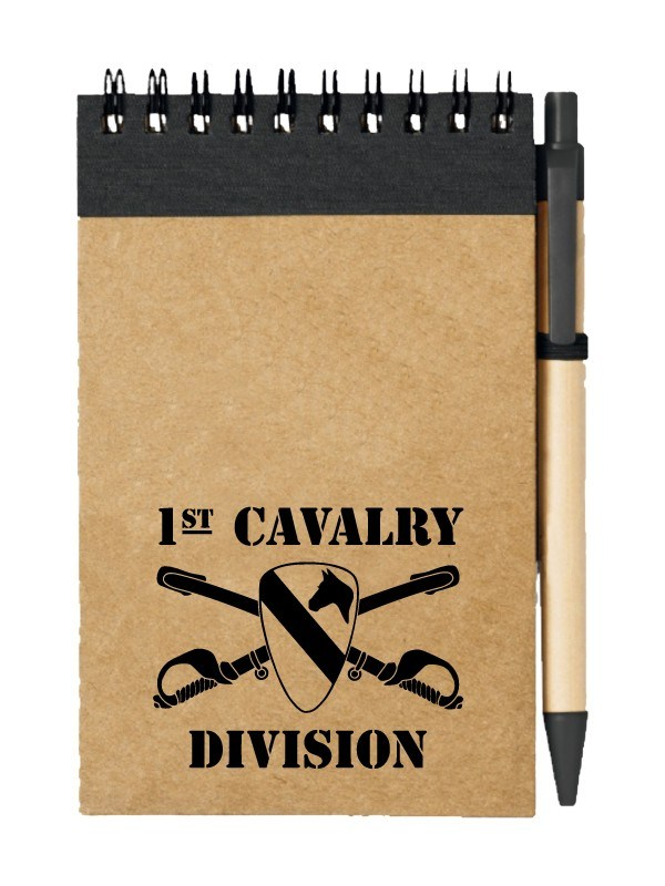 Poznámkový blok 1st Cavalry Division Sabres and Horse
