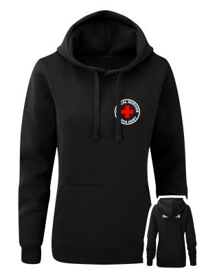 AKCE Dámská mikina s kapucí CZECH ARMY MEDICAL SERVICE, černá, S
