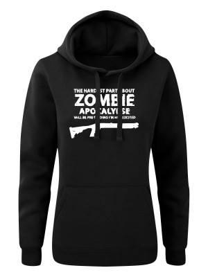 AKCE Dámská mikina s kapucí Zombie Shotgun Remington - černá - XL