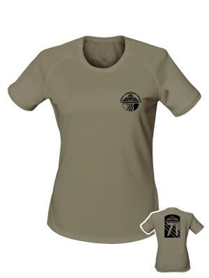 AKCE Dámské funkční tričko CAF Legacy of 71st Airborne Battalion - olivová, S