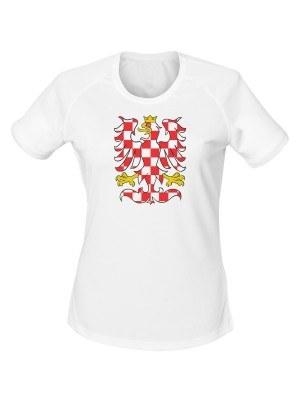AKCE Dámské funkční tričko MORAVSKÁ ORLICE - bílé, XL