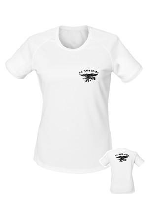 AKCE Dámské funkční tričko United States NAVY SEALS BACKSIDE - bílé, S