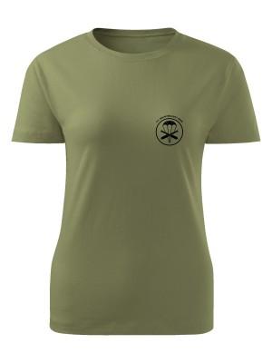 AKCE Dámské tričko 131. dělostřelecký oddíl - simple - olivové, M