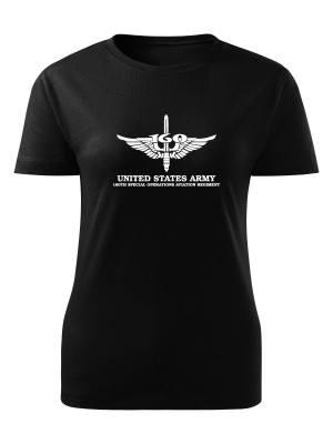 AKCE Dámské tričko 160th SPECIAL OPERATIONS AVIATION REGIMENT - černé, S