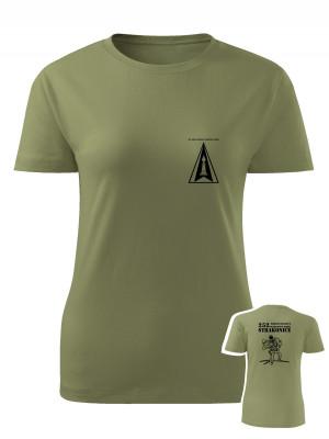 AKCE Dámské tričko 252. protiletadlový raketový oddíl - RBS-70 - olivové, L