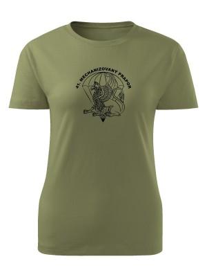 AKCE Dámské tričko 41. mechanizovaný prapor - olivové, XL