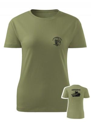 AKCE Dámské tričko 41. mechanizovaný prapor - PANDUR - olivové, S