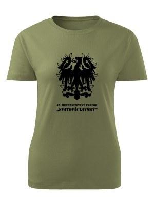 AKCE Dámské tričko 42. MECHANIZOVANÝ PRAPOR - olivové, L