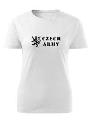 AKCE Dámské tričko Czech Army Lion - bílé, XL