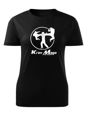 AKCE Dámské tričko Krav Maga self defence - černé, XL