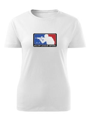 AKCE Dámské tričko Major League Infidel - bílé, M