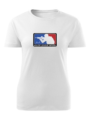AKCE Dámské tričko Major League Infidel - bílé, S