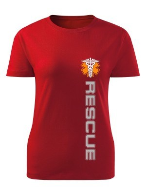 AKCE Dámské tričko Rescue - červené, L