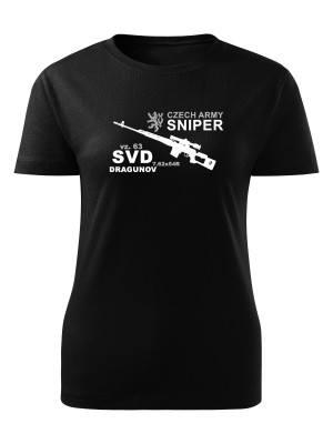 AKCE Dámské tričko SVD DRAGUNOV CZECH ARMY SNIPER - černé, XL