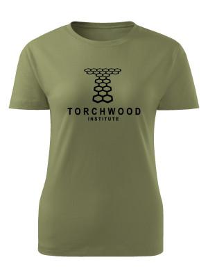 AKCE Dámské tričko Torchwood - olivové, S