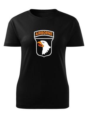 AKCE Dámské tričko U.S. ARMY 101st Airborne Division - černé, S