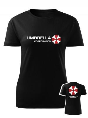 AKCE Dámské tričko Umbrella Corporation Backside - černé, M
