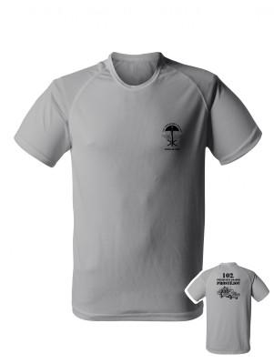 AKCE Funkční tričko 102. průzkumný prapor - LRD-130 Kajman - světle šedé, M