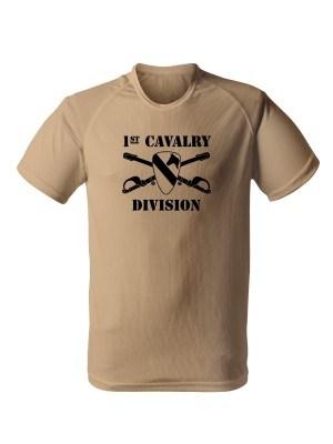 AKCE Funkční tričko 1st Cavalry Division Sabres and Horse - pískové, L
