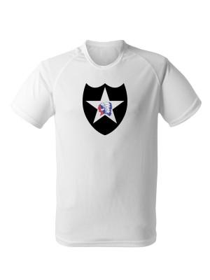 AKCE Funkční tričko 2nd Infantry Division - bílé, M