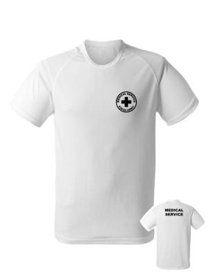 AKCE Funkční tričko CZECH ARMY MEDICAL SERVICE - bílé, M