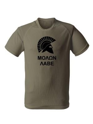 AKCE Funkční tričko MOLON LABE Two Line - olivové, XL
