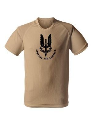 AKCE Funkční tričko SAS Special Air Service - pískové, L