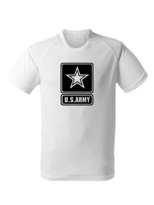 AKCE Funkční tričko U.S. ARMY Logo - bílé, S