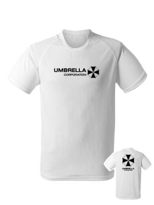 AKCE Funkční tričko Umbrella Corporation Backside - bílé, XL