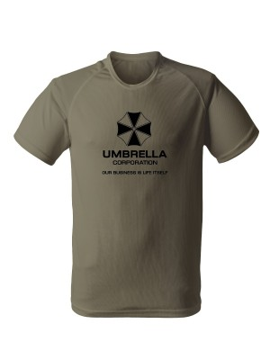 AKCE Funkční tričko Umbrella Corporation - olivové, XL