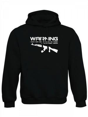 AKCE Mikina s kapucí BAD HABIT AK-47 - černá, M