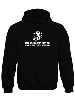 AKCE Mikina s kapucí EGA Marines The Few The Proud - černá - S