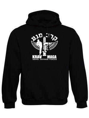 AKCE Mikina s kapucí IDF Krav Maga - černá - L