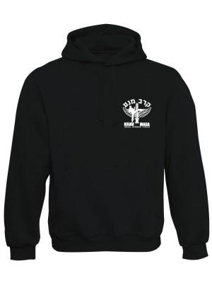 AKCE Mikina s kapucí IDF Krav Maga - SIMPLE - černá, L