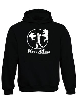AKCE Mikina s kapucí Krav Maga self defence - černá, L