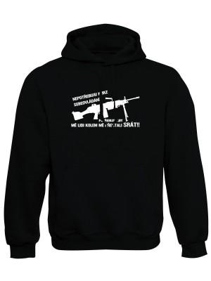 AKCE Mikina s kapucí KURZ SEBEOVLÁDÁNÍ M249 - černá - XL