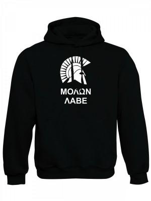 AKCE Mikina s kapucí MOLON LABE Two Line - černá, XXL