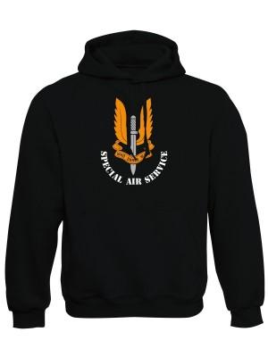 AKCE Mikina s kapucí SAS Special Air Service - černá, M