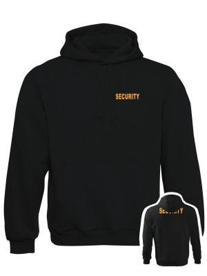 AKCE Mikina s kapucí SECURITY - černá, M