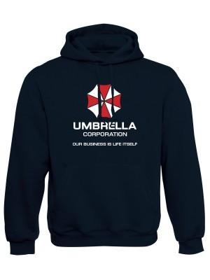 AKCE Mikina s kapucí Umbrella Corporation, námořní modrá, M