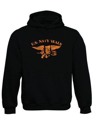 AKCE Mikina s kapucí United States NAVY SEALS - černá, XL