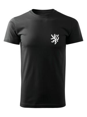 AKCE Pánské tričko Czech Armed Forces Lion Simple - černé, S