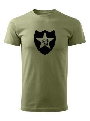 AKCE Tričko 2nd Infantry Division - olivové, XL