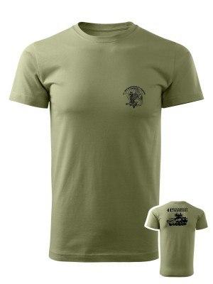 AKCE tričko 41. mechanizovaný prapor - PANDUR - olivové, M