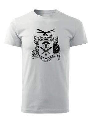 AKCE tričko 601. skupiny speciálních sil - bílé, XXXL