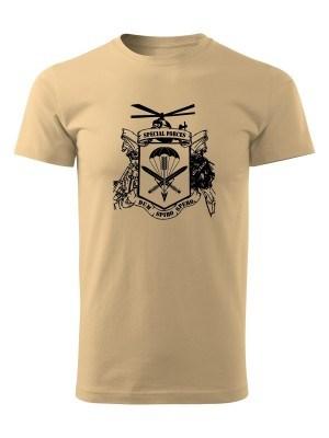 AKCE tričko 601. skupiny speciálních sil - pískové, XXL